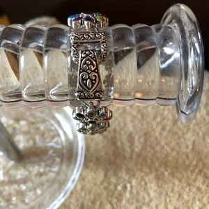 Jewelry - Pretty Silver and Colorful Flower Bracelet
